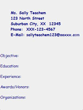 Resume template for educational administration